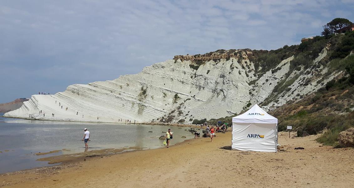 Gazebo Arpa Sicilia Spiaggia di Realmonte - Scala dei Turchi