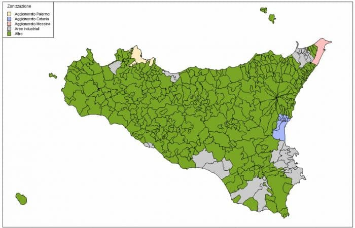 Zonizzazione del territorio regionale